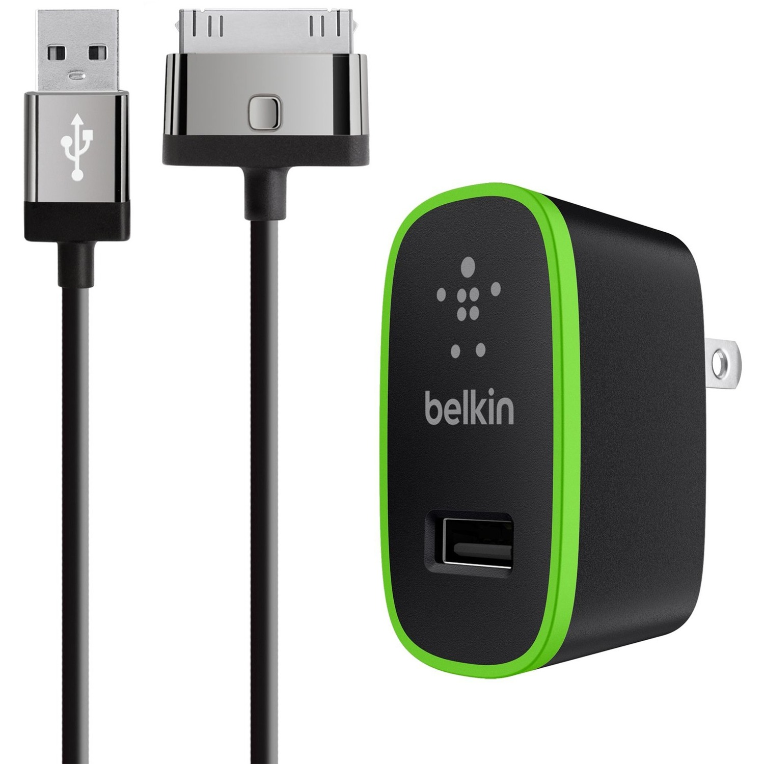 Belkin F8J141TT04-BLK Mixit Home Charger - Power Adapter - 10 Watt - 2.1 A ( Usb ) - On Cable: ...