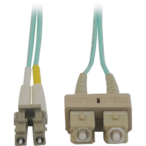 N836-10M 33-ft. 10M Mini-LC // LC - Aqua Tripp Lite 10Gb Duplex Multimode 50//125 OM3 LSZH Fiber Patch Cable