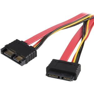 StarTech.com 20in Slimline SATA Extension Cable - Male SATA - Female SATA - 20 - Red