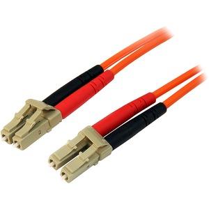StarTech.com 1m Fiber Optic Cable - Multimode Duplex 50/125 - LSZH - LC/LC - OM2 - LC to LC Fiber Patch Cable - 2 x LC Mal