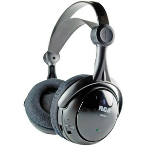 Audiovox RCA WHP141 Wireless Headphone - Wireless Connectivity - Stereo - Over-the-head - Black