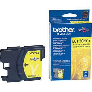 Brother LC-1100HYY Original Ink Cartridge - Yellow - Inkjet - 900 Pages