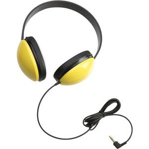 Califone 2800 Listening First Stereo Headphones - Stereo - Yellow - Mini-phone - Wired - 25 Ohm - Over-the-head - Binaural
