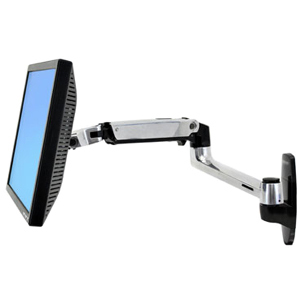 """Ergotron 45-243-026 Wall Mount for Flat Panel Display - 86.4 cm (34"""") Screen Support - 11.30 kg Load Capacity"""
