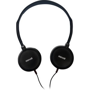 Maxell Lightweight Stereo Headphones - Stereo - Silver, Black - Mini-phone - Wired - 32 Ohm - 20 Hz 20 kHz - Nickel Plated