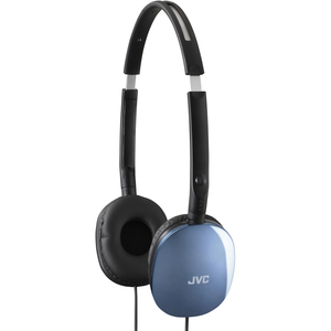 JVC HA-S160 Headphone - Stereo - Blue - Wired - 32 Ohm - 12 Hz 24 kHz - Gold Plated Connector - Over-the-head - Binaural -