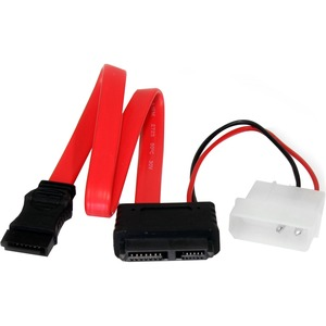 StarTech.com 30,5cm Slimline SATA to SATA with LP4 Power Cable Adapter - First End: 1 x SATA - Second End: 1 x 7-pin SATA,