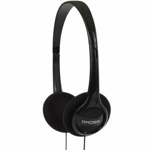 Koss Portable Headphones - Stereo - Black - Mini-phone - Wired - Over-the-head - Binaural - Circumaural - 4 ft Cable