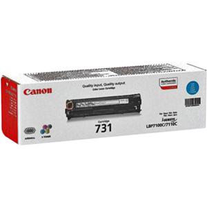 Cartucho de tóner Canon 731C - Cián Original - Láser - Estándar Rendimiento - 1500 Páginas - 1 Paquete