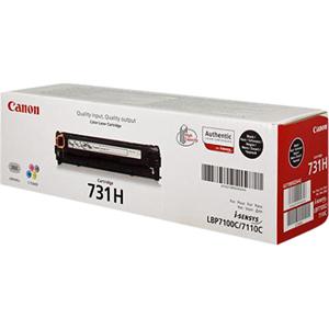 Cartucho de tóner Canon 731HBK - Negro Original - Láser - Alto Rendimiento - 2400 Páginas - 1 Paquete