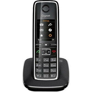 Gigaset C530 DECT Cordless Phone - Black - 300 m Range - 1 x Phone Line - 1 Simultaneous Calls - Backlight