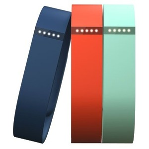 Fitbit Sleep/Activity Monitor Wristband - 3 - Tangerine, Teal, Navy Blue