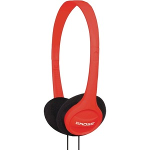 Koss KPH7 On-Ear Headphones - Stereo - Red - Wired - 32 Ohm - 80 Hz 18 kHz - Over-the-head - Binaural - Supra-aural - 4 ft