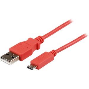 StarTech.com Cable Slim Micro B a USB A de 1m - Cable de Carga y Sincronización para Tablets y Móviles - Rosado - Extremo