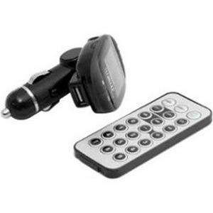 Technaxx FMT500 FM Transmitter - Black - LCD Display - USB - Cigarette Lighter Plug