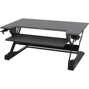 Ergotron WorkFit-TL Workstation - Rectangle Top - 952.50 mm Table Top Width x 635 mm Table Top Depth - Black
