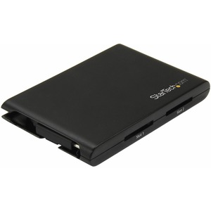 StarTech.com Dual-Slot SD Card Reader/Writer - USB 3.0 with USB-C - SD 4.0, UHS II - Portable SD/SDHC/SDXC Card Reader/Wri