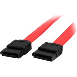 StarTech.com 15.24 cm SATA Data Transfer Cable - First End: 1 x 7-pin Male SATA - Second End: 1 x 7-pin Male SATA - Red