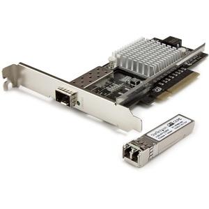 StarTech.com 10G Network Card - 1x 10G Open SFP+ Multimode LC Fiber Connector - Intel 82599 Chip - Gigabit Ethernet Card -