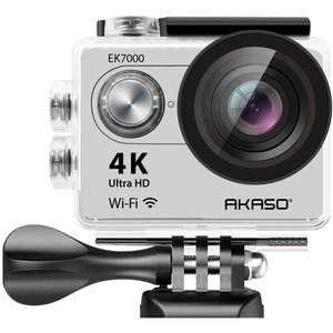 akaso 4k wifi sport action camera subacquea  Akaso AKASO EK7000 IN SILVER 4K WIFI 12MP SPORTS ACTION CAMERA ULTRA ...
