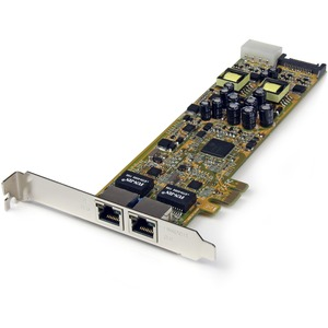Dual Port PCI Express Gigabit Ethernet Network Card Adapter - 2 Port PCIe NIC 10/100/100 Server Adapter with PoE PSE (ST20