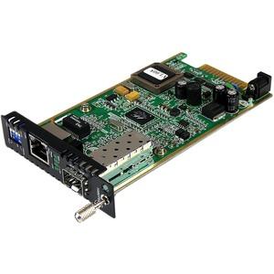 StarTech.com Transceiver/Media Converter - TAA Compliant - 1 Port(s) - 1 x Network (RJ-45) - Twisted Pair - 10/100/1000Bas