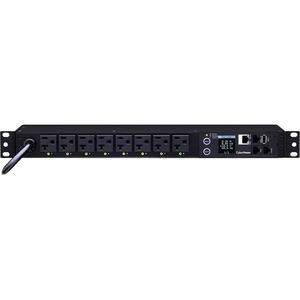 CyberPower PDU81002 8-Outlet PDU - NEMA 5-20P - 8 x NEMA 5-20R - 120 V AC - Network (RJ-45) - 1U - Rack-mountable
