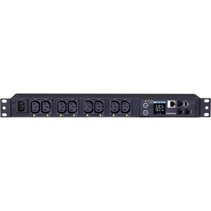 CyberPower PDU81004 8-Outlet PDU - IEC 60320 C14 - 8 x IEC 60320 C13 - 120 V AC, 230 V AC - Network (RJ-45) - 1U - Rack-mo