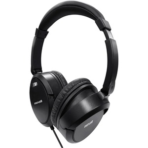 Maxell Noise Cancellation Headphones - Stereo - Black, Gray - Mini-phone - Wired - 60 Ohm - 10 Hz 28 kHz - Nickel Plated C