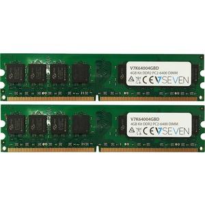 V7 RAM Module - 4 GB (2 x 2 GB) - DDR2-800/PC2-6400 DDR2 SDRAM - 800 MHz - CL16 - Non-ECC - Unbuffered - 240-pin - DIMM