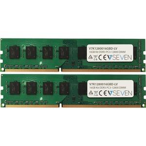 V7 RAM Module - 16 GB (2 x 8 GB) - DDR3-1600/PC3L-12800 DDR3 SDRAM - 1600 MHz - CL11 - 1.35 V - Non-ECC - Unbuffered - 240