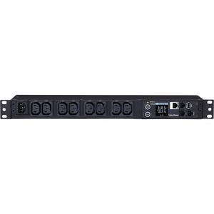 CyberPower PDU31004 Monitored PDU, 100-240V, 15A, 8 IEC-320 C13 Outlets, 1U Rackmount - Monitored - IEC 60320 C14 - 8 x IE