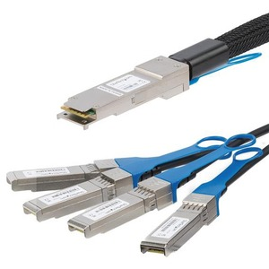 StarTech.com 3 m Twinaxial Network Cable for Network Device, Server, Switch - 1 - First End: 1 x QSFP+ Male Network - Seco