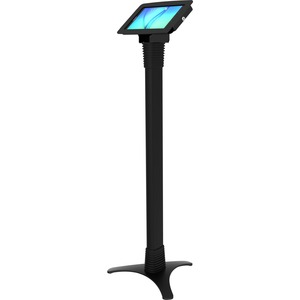 COMPULOCKS SECURE SPACE ENCLOSURE & ADJUSTABLE FLOOR STAND FOR GALAXY TAB E / TAB A 2017 8IN - BLACK