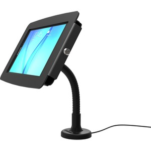 COMPULOCKS SECURE SPACE ENCLOSURE WITH FLEX ARM MOUNT FOR GALAXY TAB E / TAB A 2017 8IN - BLACK