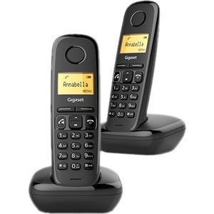 Gigaset A270 Duo DECT Cordless Phone - Black - Cordless - Corded - 1 x Phone Line - 2 x Handset - 1 Simultaneous Calls - S