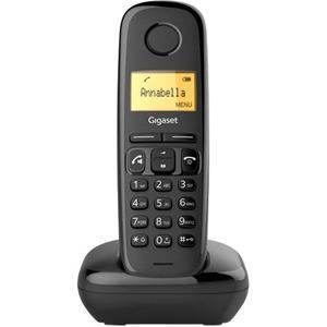Gigaset A270 DECT Cordless Phone - Black - Cordless - Corded - 1 x Phone Line - 1 x Handset - 1 Simultaneous Calls - Speak