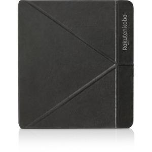Kobo SleepCover Carrying Case (Book Fold) Kobo Digital Text Reader - Black - PU Leather