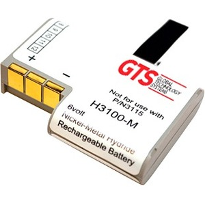 GTS H3100-M Battery - Nickel Metal Hydride (NiMH) - For Handheld Device - Battery Rechargeable - 6 V DC - 750 mAh
