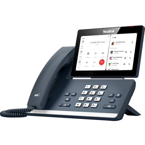 Yealink MP58-WH IP Phone - Corded/Cordless - Corded - Desktop - Classic Gray - VoIP - 2 x Network (RJ-45) - PoE Ports
