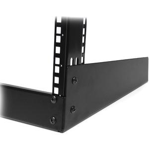 StarTech.com Rack Armario Bastidor Abierto de Escritorio Desktop Sobremesa de 2 Columnas 12U 0,5m Negro - 50 kg Capacidad