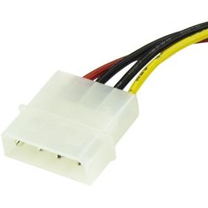 StarTech.com 15cm 4 Pin Molex to SATA Power Cable Adapter - LP4 to SATA - 6in Molex to SATA Cable - 4 pin to SATA power -