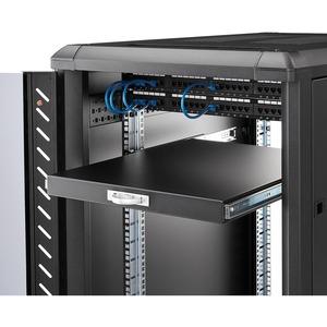 StarTech.com Ripiano scorrevole per armadio server rack 55,8 cm di colore nero - 25 kg Static/Stationary Weight Capacity