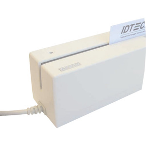ID TECH EzWriter Magnetic Stripe Reader - TAA Compliant - Triple Track - Track 1, Track 2, Track 3 - USB - White