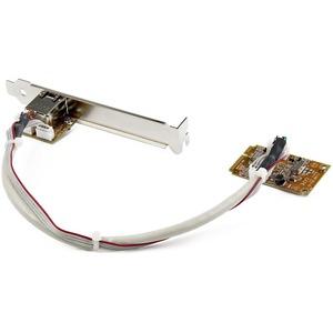 StarTech.com Adaptador Tarjeta de Red NIC Mini PCI Express PCI-e PCIe 1 Puerto Gigabit Ethernet RJ45 - Mini PCI Express -