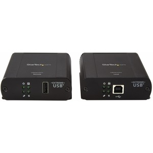 StarTech.com Newer version is USB2001EXT2NA - 1 Port USB 2.0 over Cat5 / Cat6 Ethernet Extender - up to 330ft (100m) - Ext
