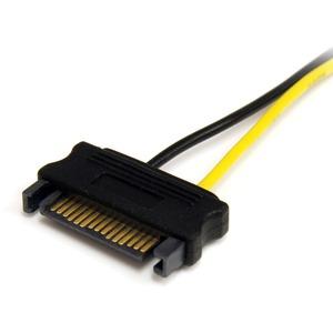 StarTech.com Adattatore cavo di alimentazione SATA a scheda video PCI Express 8 pin da 15 cm - Per Scheda PCI Express - SA
