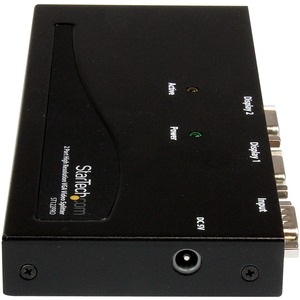 Duplicador Divisor de Video VGA de 2 Puertos 350MHz - Splitter Multiplicador de 2 Salidas HD15 StarTech.com ST122PRO