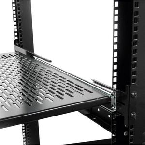 StarTech.com 2U Adjustable Mounting Depth Vented Sliding Rack Mount Shelf - 50lbs / 22.7kg - 22.68 kg Maximum Weight Capacity