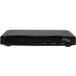 StarTech.com 4-to-1 HDMI 1.3 Switch - Video/audio switch - 4 ports - HDMI - Remote Control - 4 x HDMI In - 1 x HDMI Out -